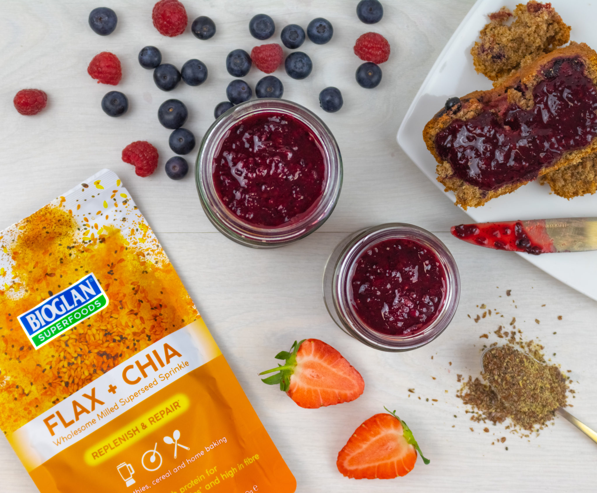 Flax & Chia Very Berry Jam