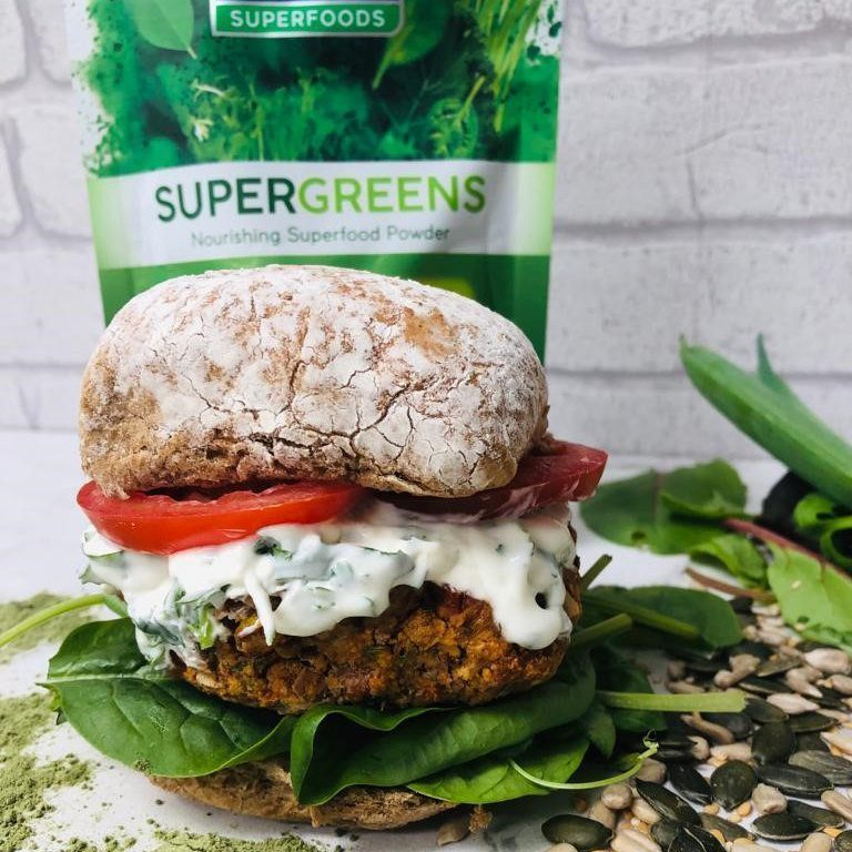 Beanie Burger with Supergreens