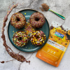 Vegan Rainbow Doughnuts with Cacao Boost