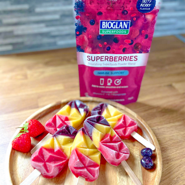 Rainbow Lollies with Superberries
